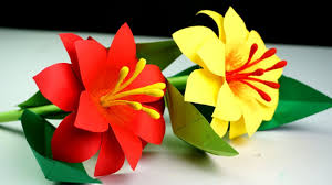 Made Flower With Paper How To Make Paper Stick Flower Making Paper Flowers Step By Step Handmade Craft