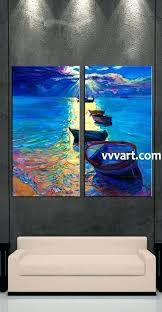 living room art 2 piece canvas wall ocean decor ship artwork oil painting by taylor blue