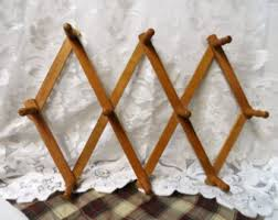 Expandable Wooden Coat Rack Accordian Wall Hooks Etsy 80