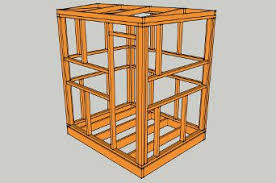 Assembling the deer blind frame   Orignal   Pinterest   Deer blind together with  as well  besides deer blind moreover Deer Stand Box Plans   YouTube moreover  besides The Buck Palace 6X6 Platinum 360 Hunting Blind   Redneck Blinds furthermore Image result for 6X6 Deer Stand Plans   Deer blind   Pinterest additionally Tower deer stand project   Bowhunting   Forums further Deer Box Stand Plans   MyOutdoorPlans   Free Woodworking Plans and in addition Elevated Deer Blind Plans   MyOutdoorPlans   Free Woodworking. on deer stand plans 6x6
