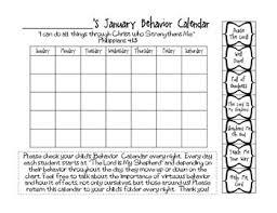 Biblical Behavior Chart Behavior Management Clip Chart Monthly Calendars Bible Verse Based