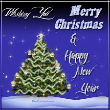 merry christmas and happy new year gif. Wishing You Merry Christmas Happy New Year On And Gif