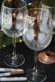 diy wine glasses using sharpies fabtastic eats