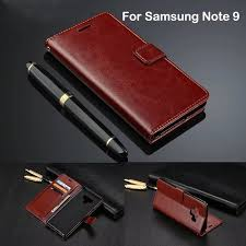 flip wallet kulit leather cover case samsung galaxy note 9 note9