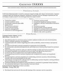 Customer Service Advisor Resume