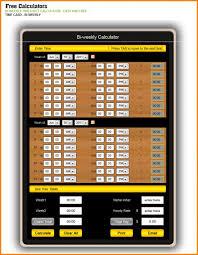 Calculator For Timesheet Bi Weekly Timesheet Template Template Business
