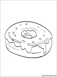 Kleurplaten Donut Gratis Kleurplaten