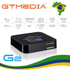IPTV Box <b>GTMEDIA G2 android tv</b> box H.265 WIFI ship from Brazil ...