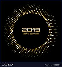 New Light Bright Happy New Year 2019 Gold Bright Disco Lights