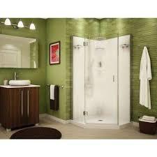 center drain corner shower