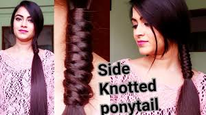 Simple Hairstyles For College Indian Hairstyles For Medium To Long Hair Side Knotted Ponytail