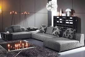 Faboulus Decorations Accessories In Gray Living Room With Dust Sofabed  Facing Black Table