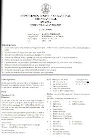 Berikut ini soal bahasa inggris kelas 10 semester 2 dan kunci jawaban kurikulum 2013. Soal Dan Kunci Jawaban Bhs Inggris 07