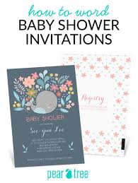 how to word a baby shower invitation how to word baby shower invitations