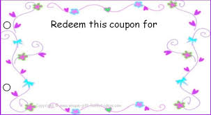 Free Printable Vouchers Templates Image Gift Certificate Booklet