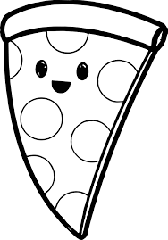 Small Picture Very Cute Pizza Coloring Page Wecoloringpage
