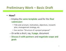 Preliminary Work Research Project Plan Template How To Write Good ...