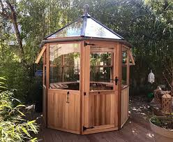 octagonal cedar greenhouse 6ft6 x 6ft6 made in the uk