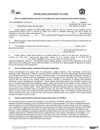 Listing Property For Rent Lease Listing Agreement