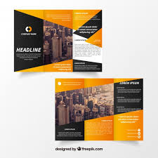 tri fold brochures creative trifold brochure template vector free download
