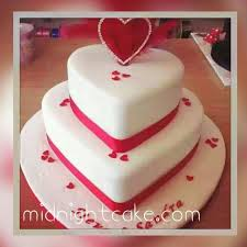 2 Tier Romantic Heart Cake Delivery To Ahmedabad At Midnight
