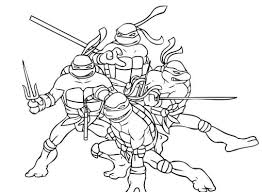Small Picture Coloring Pages Teenage Mutant Ninja Turtles Tmnt Coloring Page