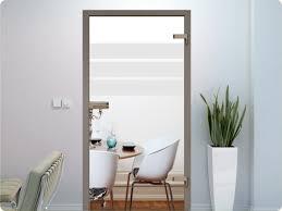 Glastür Aufkleber Fensterfolie Motiv 3 Streifen Deko Büro Diele