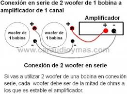 jbl marine subwoofer wiring diagram jbl automotive wiring diagrams marine subwoofer wiring diagram conexion 2 woofer 1 bobina en serie a