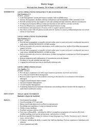 Level Operations Resume Samples Velvet Jobs