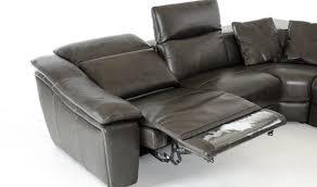 divani casa jasper modern leather sectional sofa in dark grey