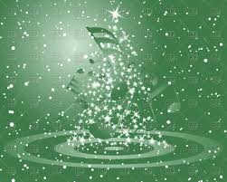 green christmas background clipart. Simple Background Green Christmas Background With Musical Notes And Firtree Vector Image U2013  Artwork Of Click To Zoom For Background Clipart H