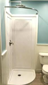 double curved tension shower rod adjule installation
