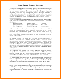 7 Resume Summary Statement Example Letter Signature