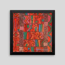 abstract african art print agbada ii framed print