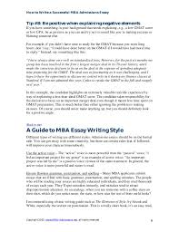 mba essay writingguide  6 how to write a successful mba admissions essay