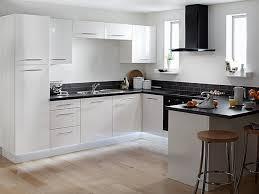 Modern White Kitchen Design Gallery Of Cosy Modern Kitchen With White Appliances On