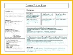 sample career plan career future plan template business growth sample new