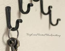 DIY Keyhooks , Small iron hooks, key hooks, black metal hooks, steel hooks