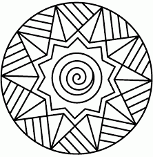Small Picture Coloring Pages Christmas Mandala With Stars Coloring Page Free