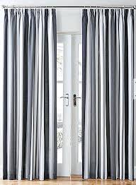 pencil pleat curtains striped black grey cotton blend lined pencil how to hang pencil pleat curtains dunelm