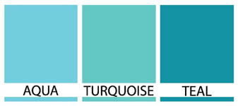 Turquoise Paint Color Chart Turquoise Vs Teal Vs Aqua Aqua Turquoise Or Teal In