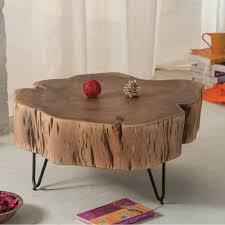 Baumstamm Tisch Wohnzimmer