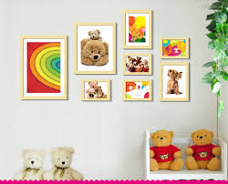 teddy bear wall decoration photo frames wooden ping stan nail art in stan