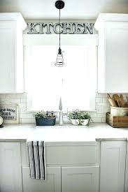 light above kitchen sink pendant