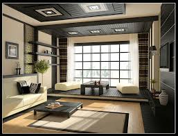 ... Home Design Ideas Living Room Magnificent Interior Layout Black Low  Rectangle Wooden Coffee Table Potted Plants ...