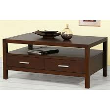 coffee table with drawers in teakwood