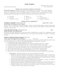 Product Manager Resume Samples Unique Product Manager Resume Example Marketing Engineer Examples