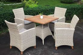 venice wicker and smooth teak outdoor furniture collection
