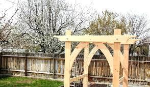 build your own garden arbor vegetable plans building