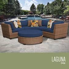 tk classics laa 04a navy laa 4 piece outdoor wicker patio furniture set 04a